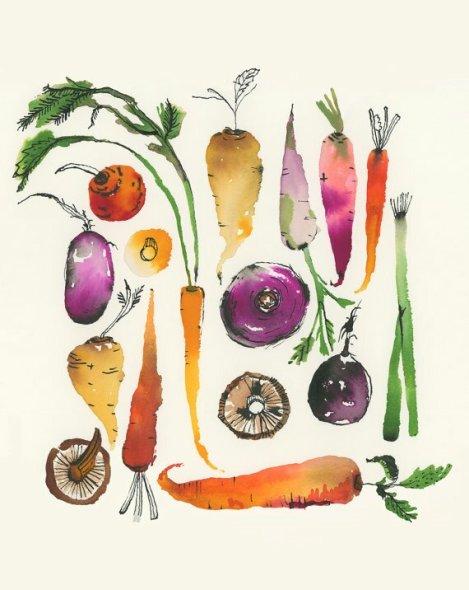 Tableau légumes d'automne